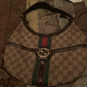Authentic Jackie Gucci Hobo bag. Good condition